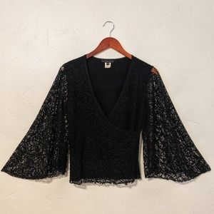 Anthroplogie Black Lace Blouse